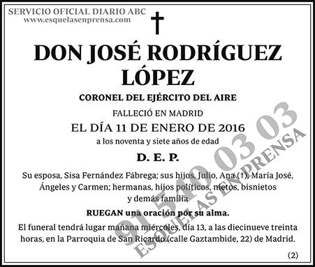 José Rodríguez López
